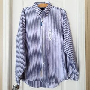 Chaps classic fit long sleeve button down shirt